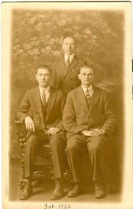 Clarence Rothenbuhler Harvey Helm Ernes Rothenbuhler Feb. 1924 copy 1
