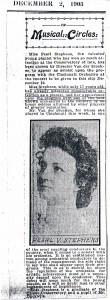 Pearl Stephens Blecke Toledo Daily Blade 1905