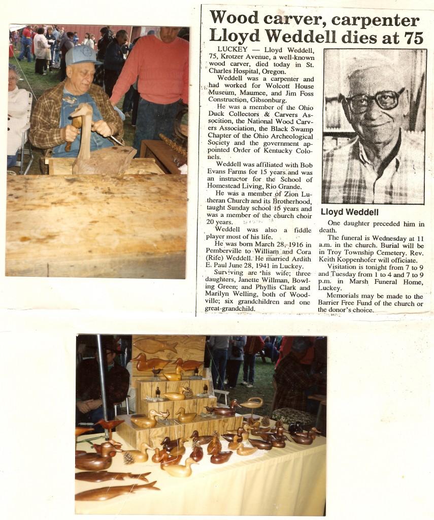 Lloyd Weddell Applebutter Fastival Grand Rapids, Ohio memory poster October  1991