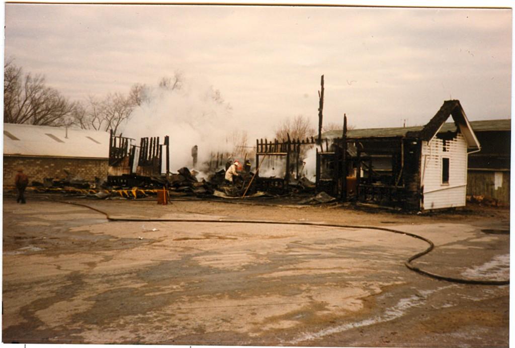 Luckey Lumber Fire 17 Jan 1987  copy
