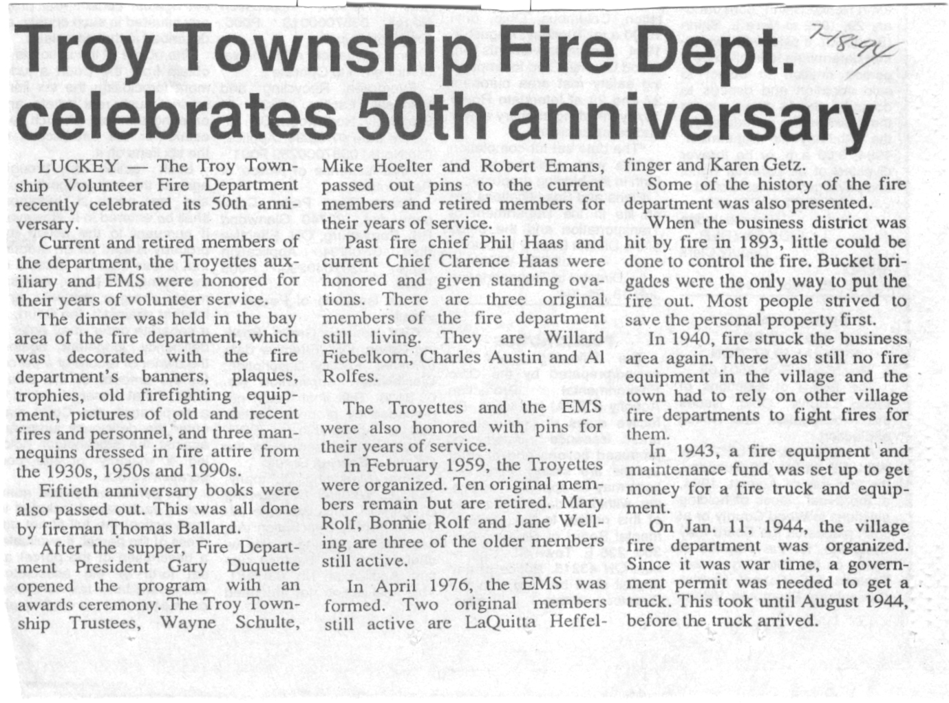 TT fire dept 50th an#13C984