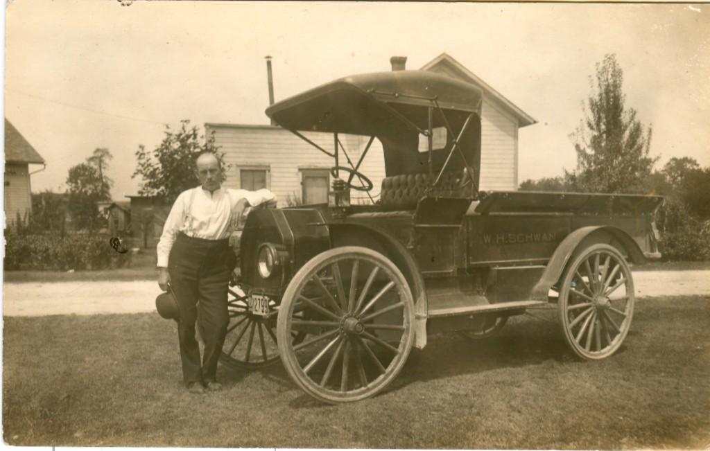 William Schwann and truck